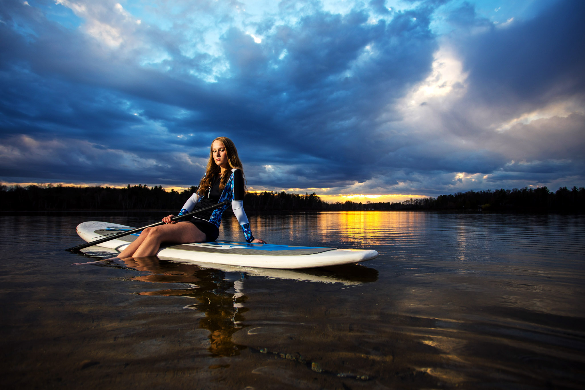 Florida paddle board senior pictures